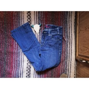"""""""ROCK & ROLL COWGIRL""""MID RISE BOOTCUT JEANS - BLUE"""